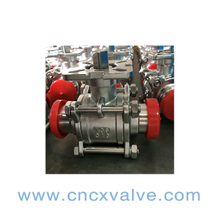 3PC Body Sanitary Clamped Ball Valve