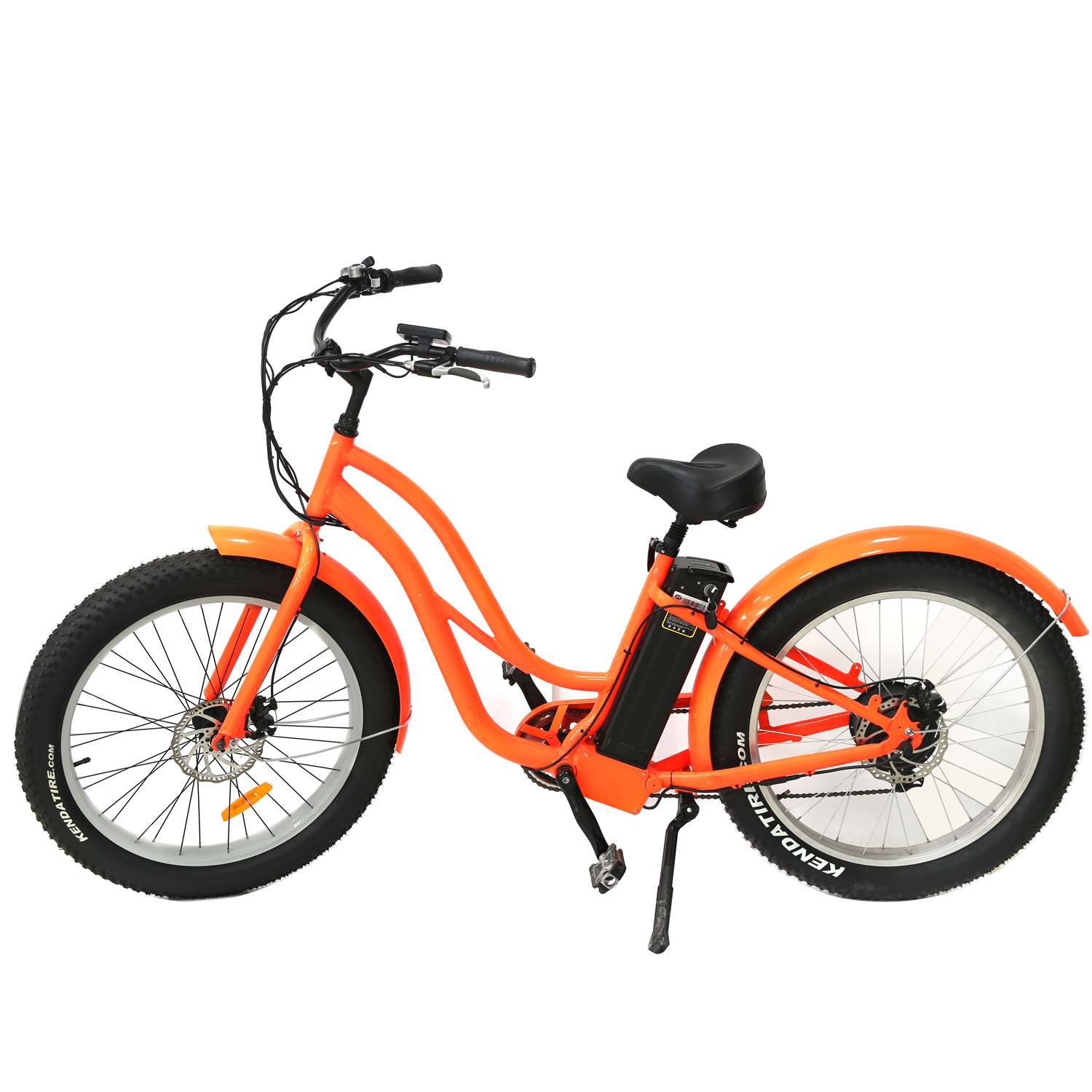 BAFANG 48V 500W 8Fun Motor 26 inch Bench Fat Tire Electric Bike with 48V 13AH Lithium Ion Battery