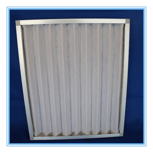 Metal frame preliminary efficiency air filters