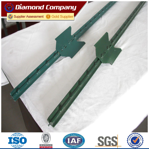 galvanized or powder coated metal T fence post/Y post for farm fence ...