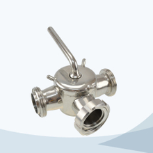 Sanitary 3 way union connection plug valve