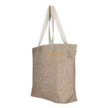 Cheap personalized design custom biodegradable cotton jute shopping tote bags printing in bulk