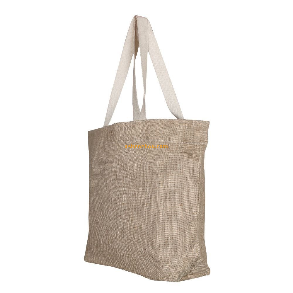 cheap personalized design custom biodegradable cotton jute shopping