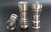 14&19 domeless sprial titanium nail,with male and female joint