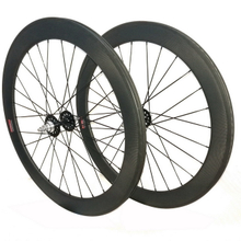 Free shipping fixed gear carbon wheels 60mm depth 23mm width,clincher