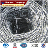 hot dipped galvanized barbed wire for security fence wire China factory direct