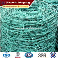 good quality PVC coated barbed wire for hot sale