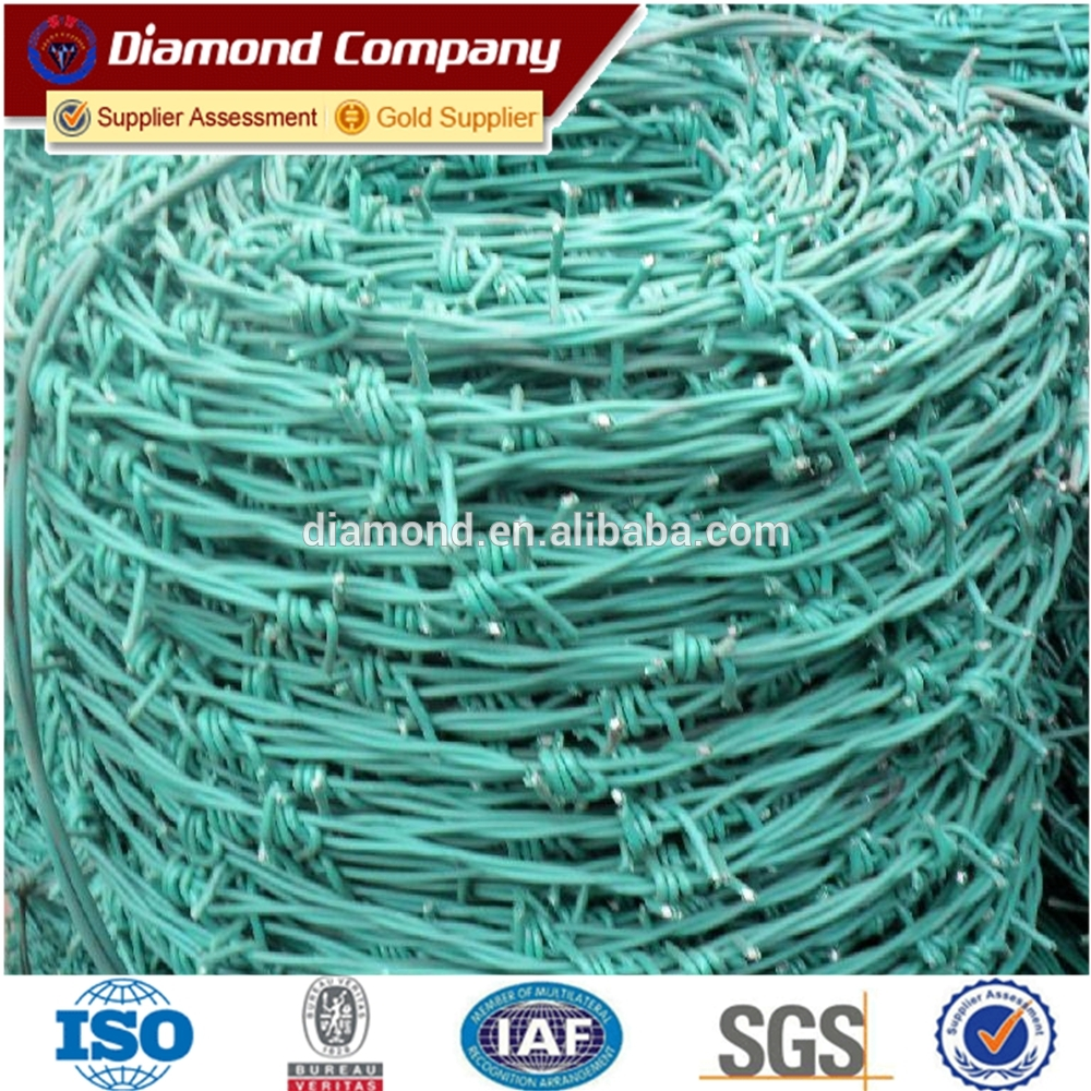 good quality PVC coated barbed wire for hot sale - Diamond Wire ...