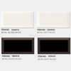 White and black color Bevel range Subway tile 75*150mm