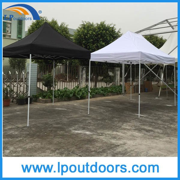 3X4.5m Outdoor Hexagon Steel White PVC Folding Canopy Tent