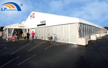 Large Marquee Aluminium Temporary Outdoor Industrial Store Tent Keeps The Supermarket 24-Hours Open