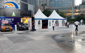 TianYue Car Held A Promotion Event In 6x6M Outdoor Aluminum Advertising Marquee Pagoda Tent