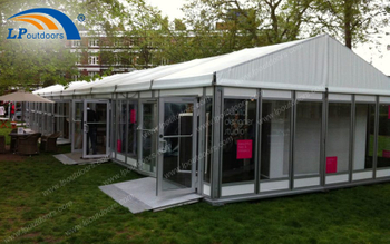 An Exhibition Was Held In Easy Asemble And Dismantle 10x50m Gallery Marquee Tent