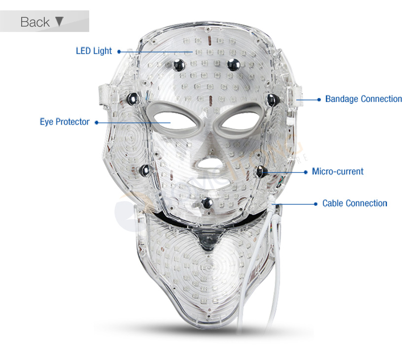 led light therapy mask detail