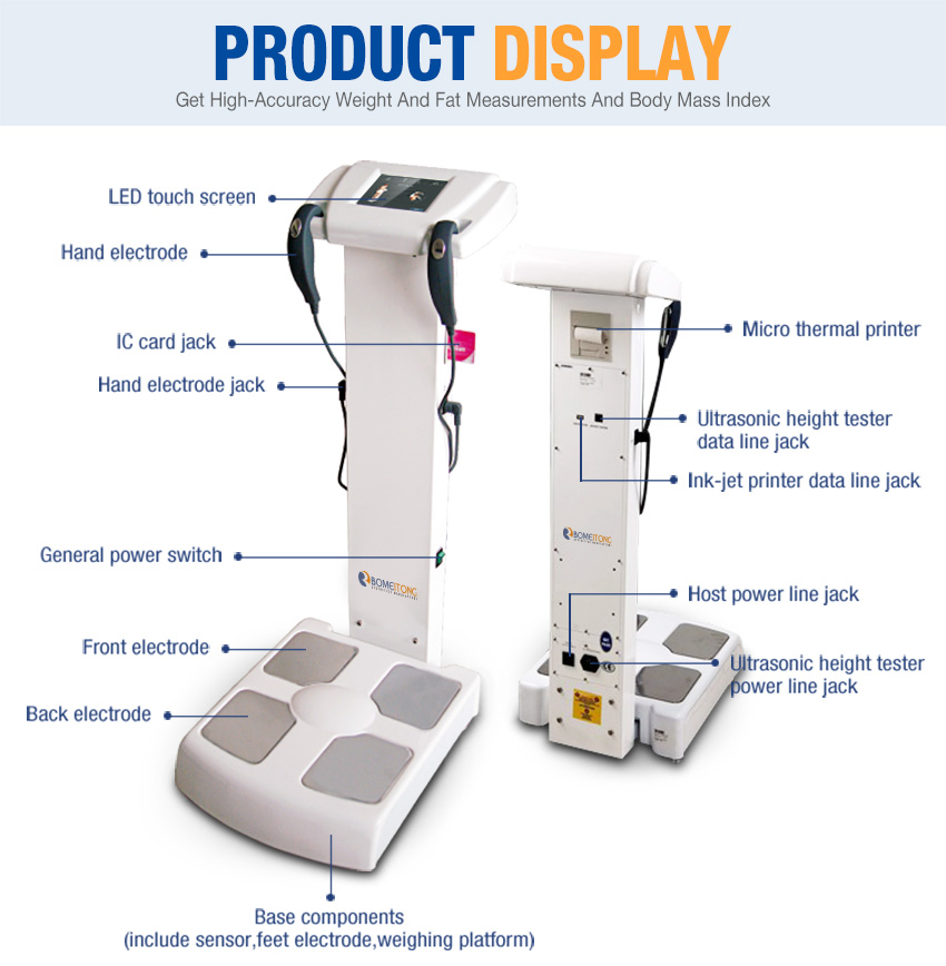 body fat analyzer product display