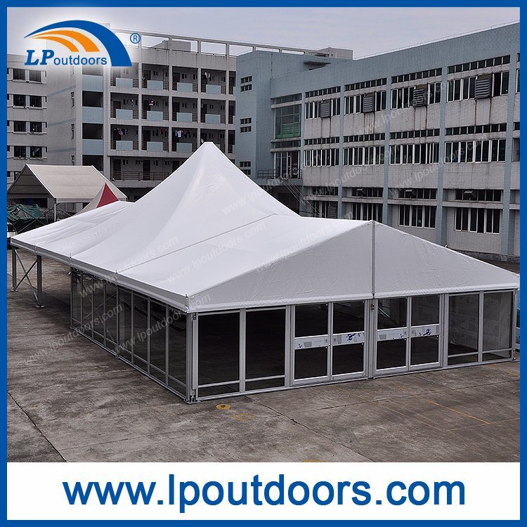 Outdoor High peak Luxury Glass Wall Marquee Tent For Party Event