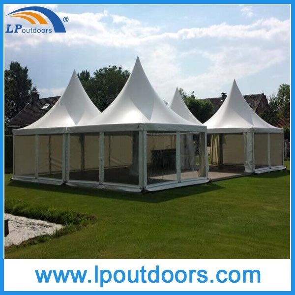 6X6m Best Quality Black PVC Wedding Marquee Pagoda Tent for Event