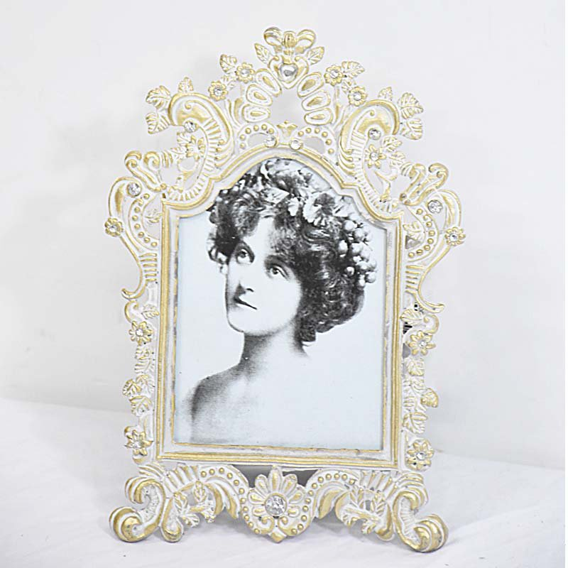 Vintage Metal Gold Finish Lace Ornate Filigree Mini Photo Frame ...
