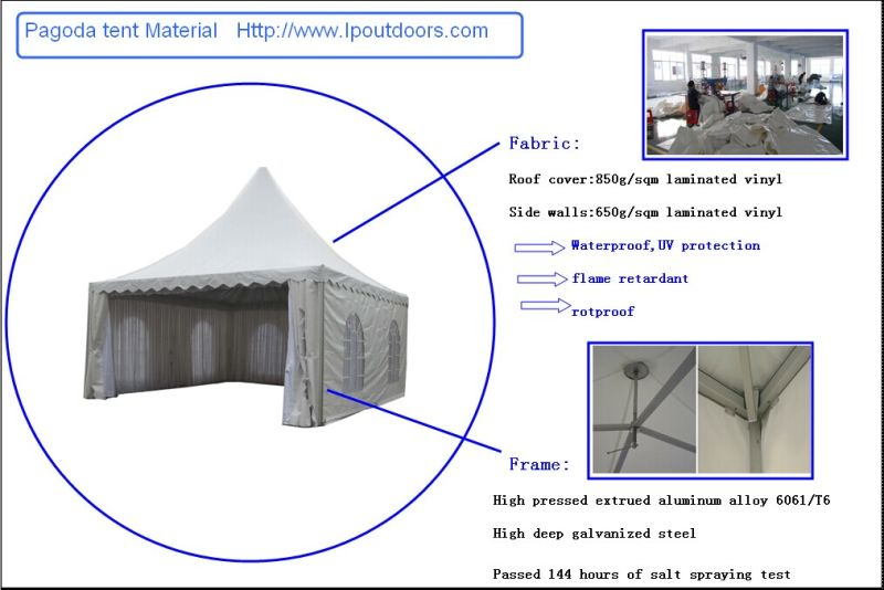 Outdoor Luxury Party Marquee Pagoda Tent with Lining for Event