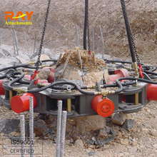 Latest super hydraulic pile breaker/cutter, best curshing round piles construction equipment