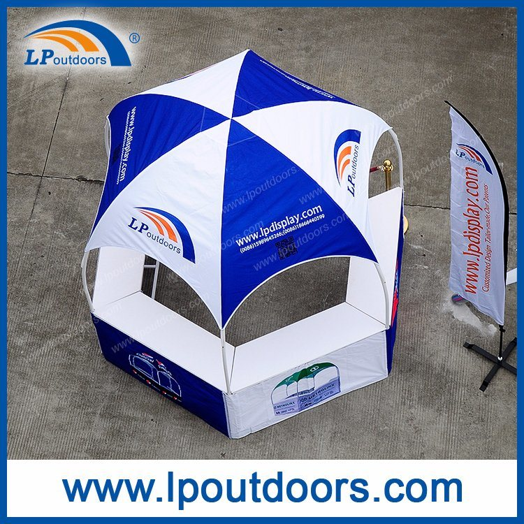 Hexagon Foldable Dome Kiosk Advertising Tent