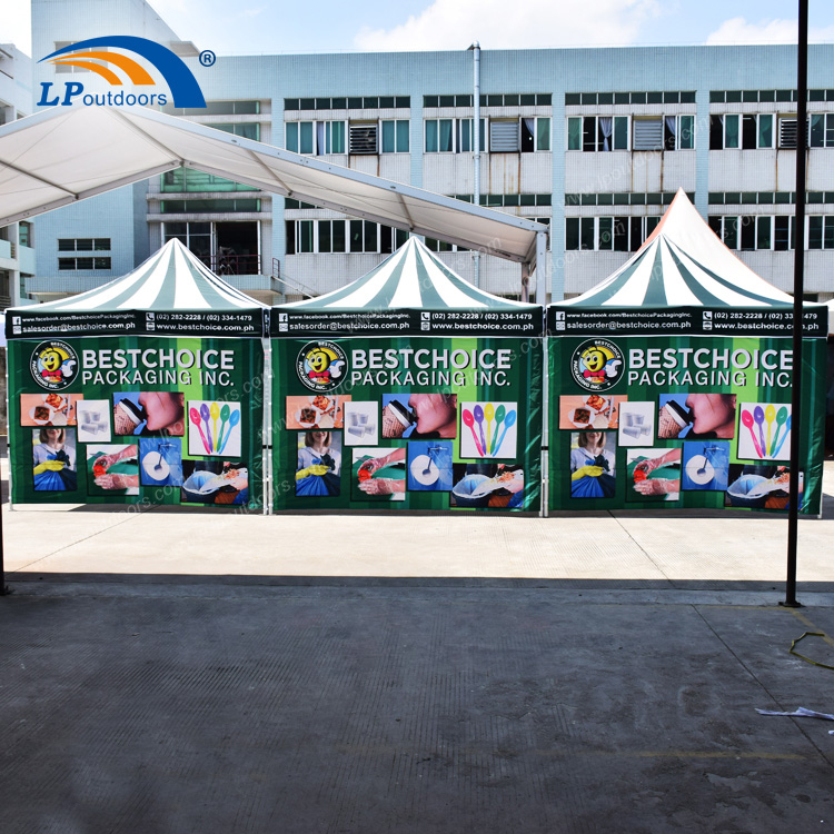 Customized Advertising 3x3m Aluminum Canopy Tent For Trade Show