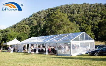How Many People Can Aluminum Large Outdoor Transparent Wedding Tent Hold