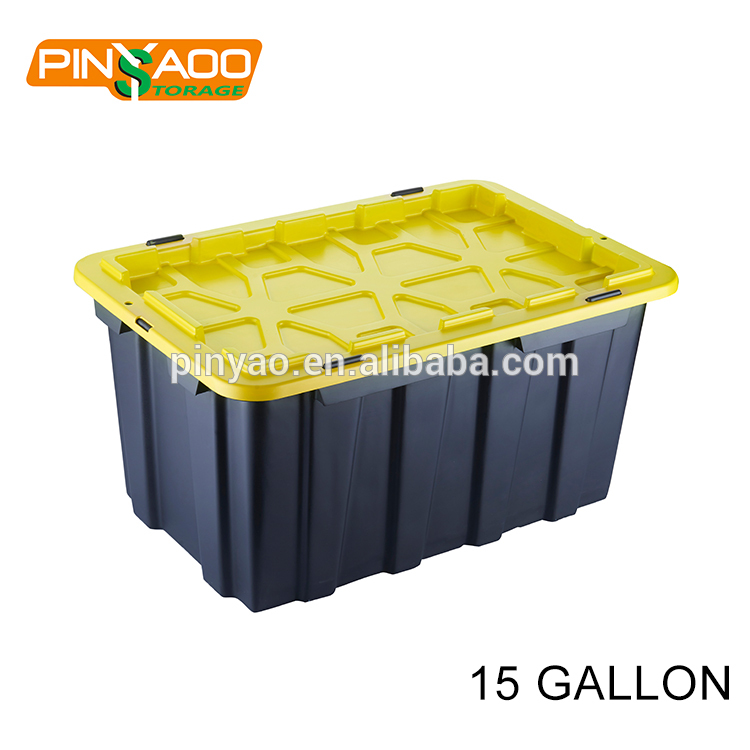 New Design Stackable 15Gallon Heavy Duty Tote Plastic Storage Box with Lid Supplier  sc 1 st  Zhejiang Pinyaoo Technology Co.Ltd & New Design Stackable 15Gallon Heavy Duty Tote Plastic Storage Box ...