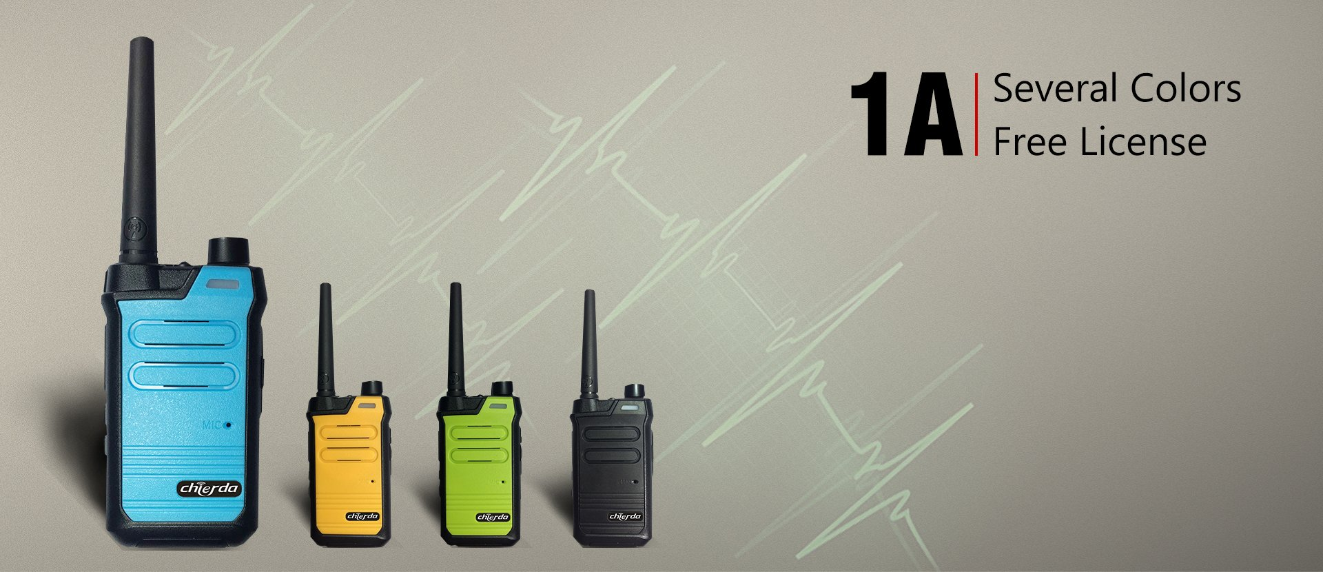 Walkie talkie, two way radio, Mobile car radio, Repeater, Dmr radio