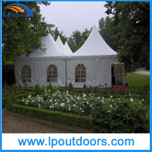 3x3m White PVC High Peak Pagoda Tent for Party Event