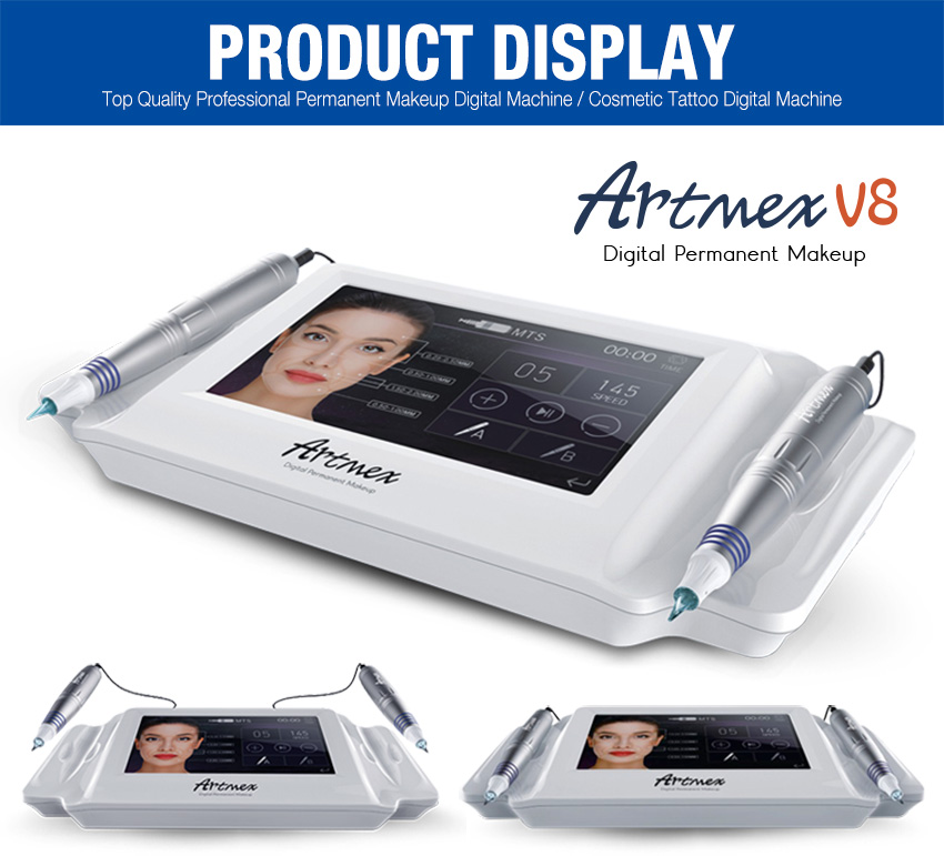 permanent makeup machine display