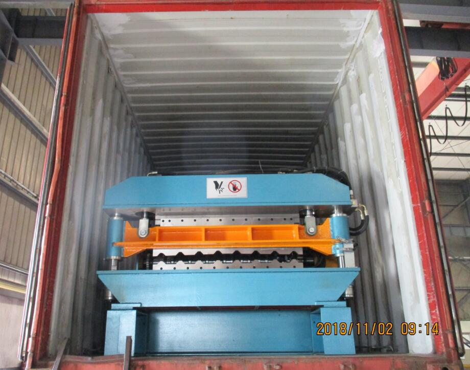 Delivery of CE standard SGS inspection AG Profile Roll Forming Machine To USA