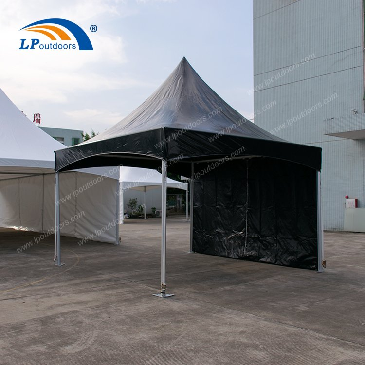 4X4m High Quality Aluminum Frame Black Marquee Trade Show Tent