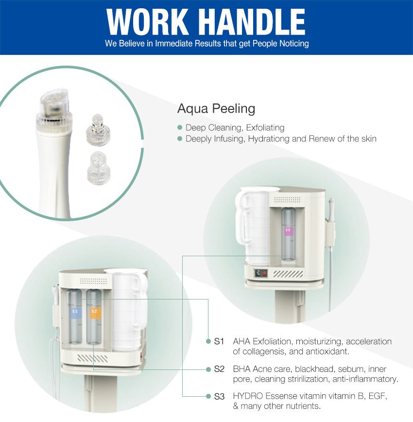 aqua peel machine work handle