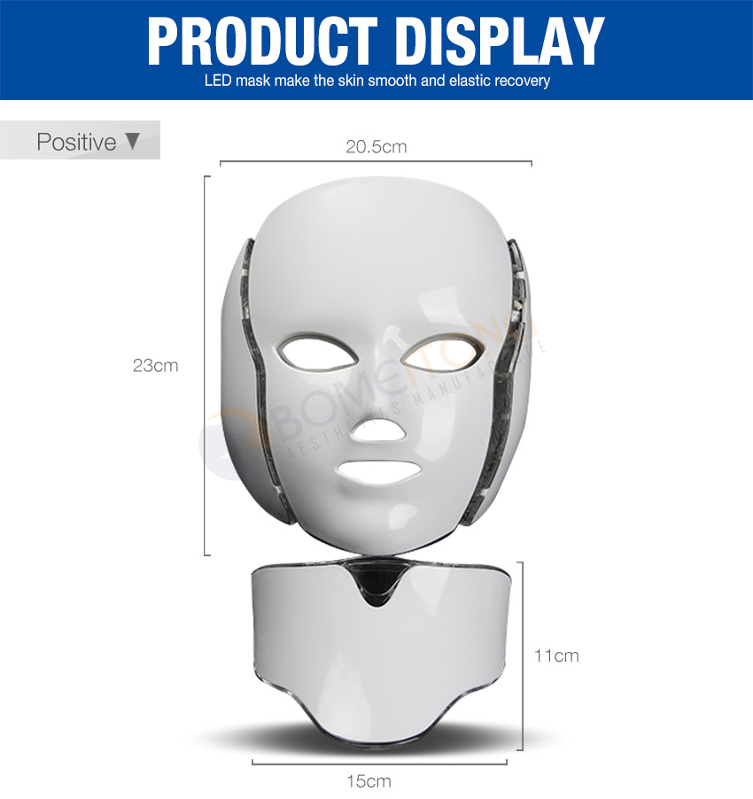 led light therapy mask display