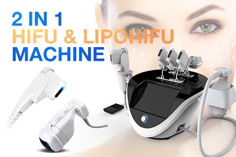 2 in 1 hifu and lipohifu machine, good choice for skin tightening and body slimming