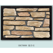 Multicolor wall mixed stone tile ledgestone panel natural culture stone