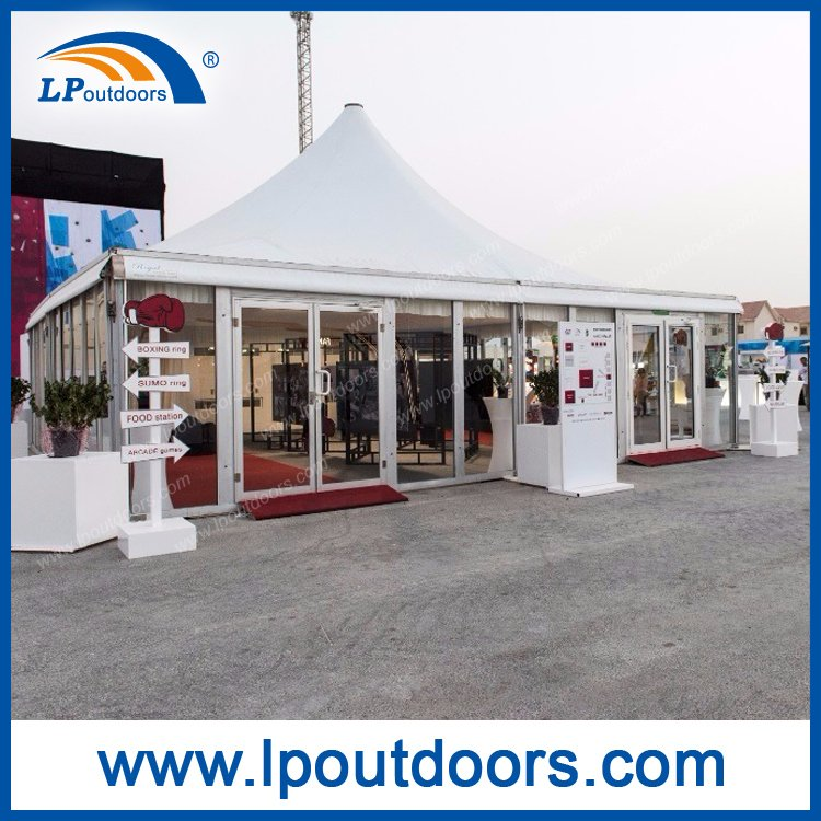 10X10m Outdoor Aluminum Luxury Marquee Pagoda Tent with Glass Wall for Event