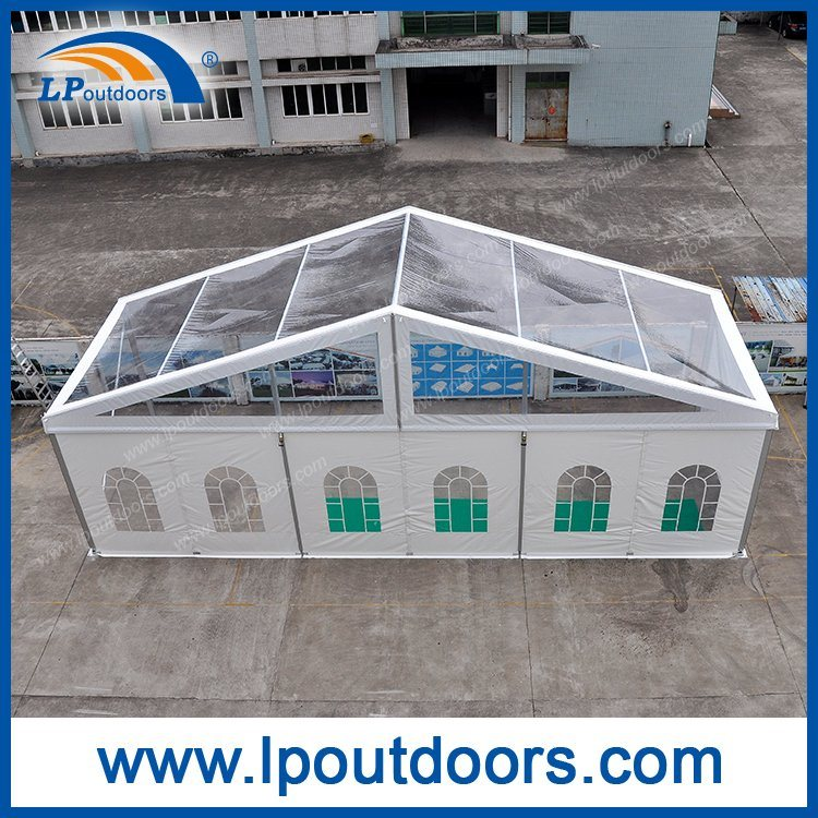 15m Clear Span Transparent Roof Party Tent for Outdoor Party