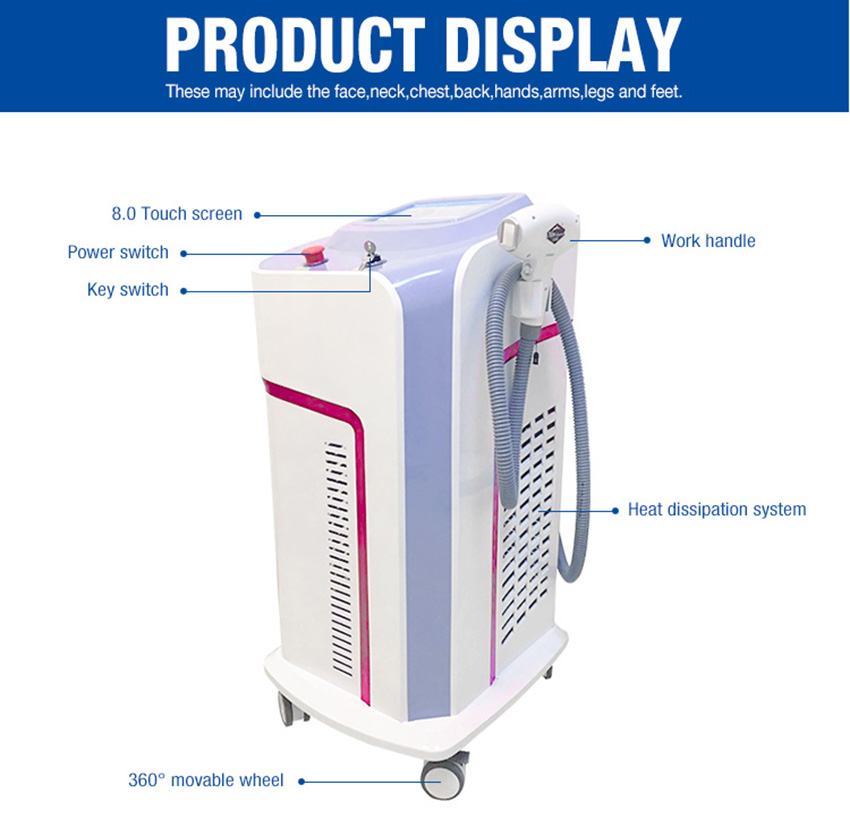 laser hair removal machine display