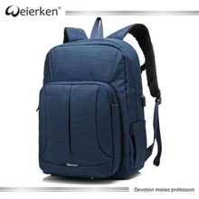 2017 Weierken new design OEM laptop backpack bags