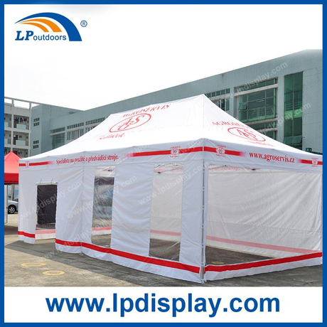 Customized 4X8m Folding Canopy with Transparent Sidewalls for Sale
