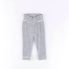Wholesale black white horizontal stripes cotton lounge pants