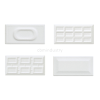 White color glaze tile Subway tile 100*200mm