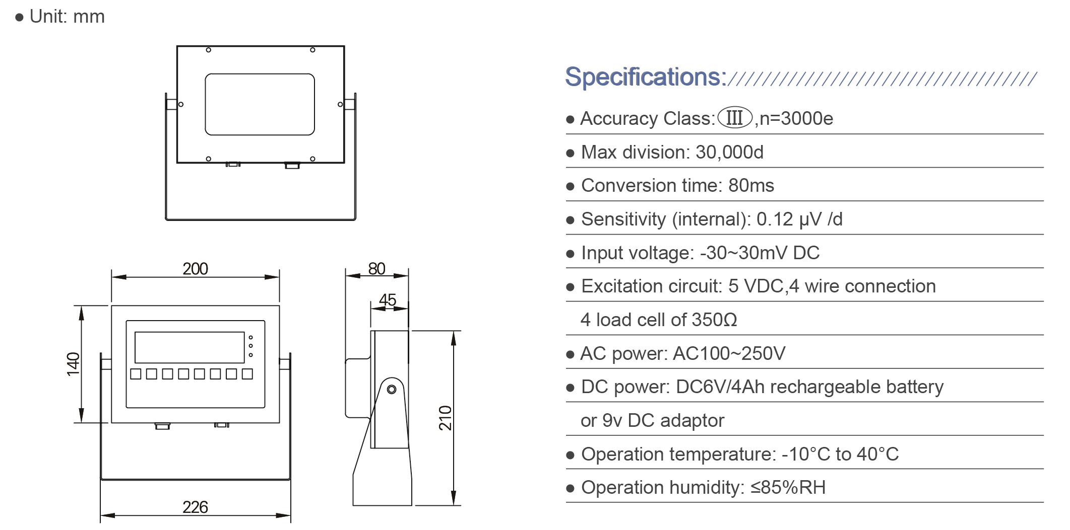 Lp7510 Digital Weighing Indicator Buy 250vdc Wiring Diagram Specification