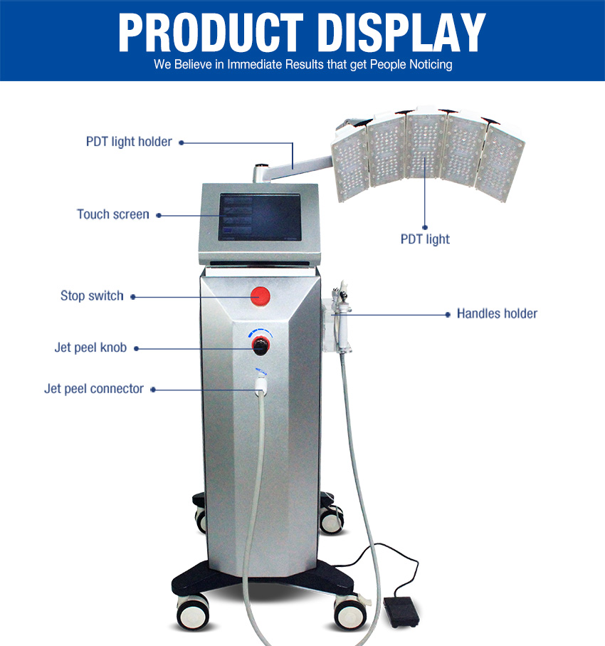 oxygen jet peel machine display