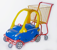 Best Kid Trolley Plastic Powder Coating with Steel Basket