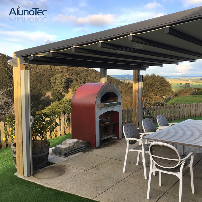 Garden Awning Canopy Roof With Zipper Screens