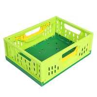 Folding Vented Plastic Crate FB-31