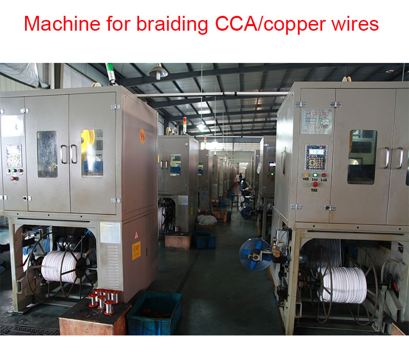 coaxial cable braiding wires
